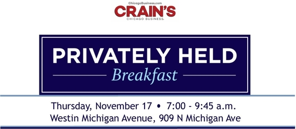 Dee Robinson to Speak at Crain's Privately Held Breakfast