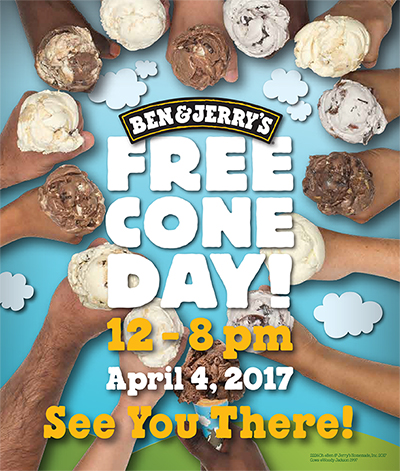 Ben & Jerry's Free Cone Day 2017!