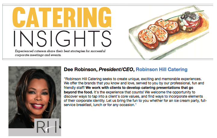 Robinson Hill Catering Featured in Crain's Chicago Business