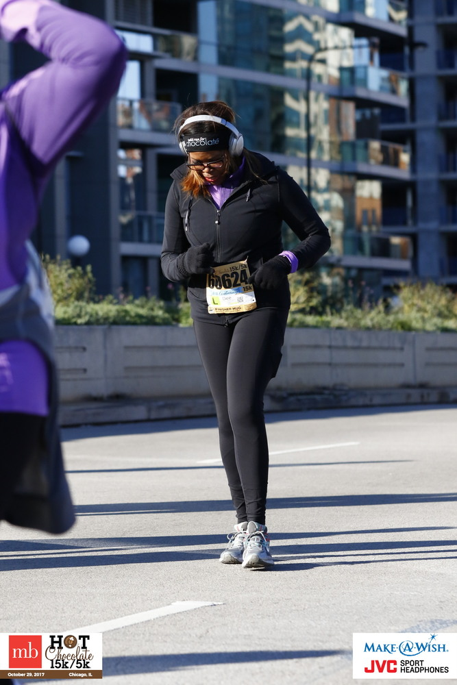 Dee at the 2017 Hot Chocolate Run